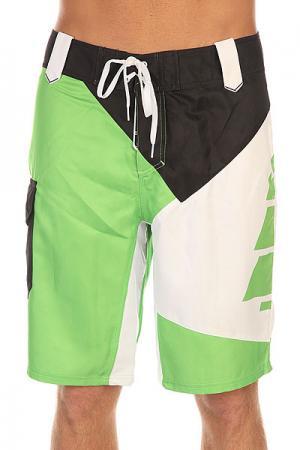 Шорты пляжные  Amon Green Picture Organic. Цвет: зеленый,черный,белый