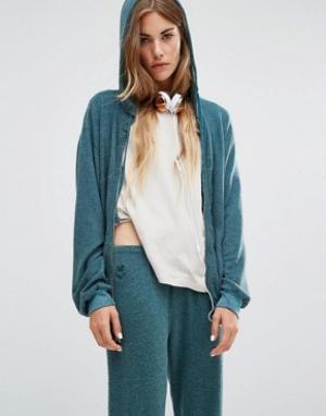 Wildfox Худи в винтажном стиле. Цвет: зеленый