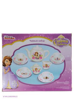 Набор посуды принцесса София Играем вместе. Цвет: белый, фиолетовый