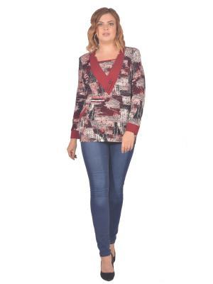 Кофточка Томилочка Мода ТМ. Цвет: серый, бордовый