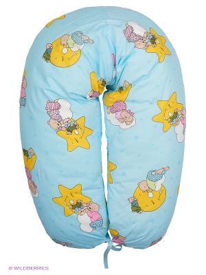 Подушка для беременных и кормления 40 недель. Цвет: синий, голубой