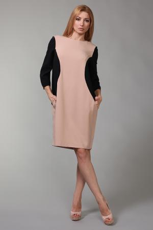 Платье Parosh. Цвет: бежевый