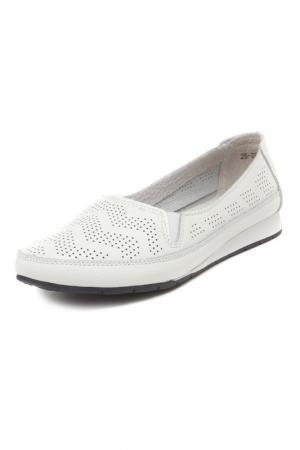 Туфли MAKFINE. Цвет: белый