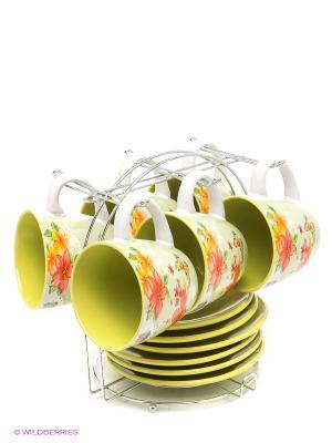 Чайный набор, 13 предметов Bekker. Цвет: розовый