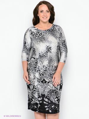 Платье Forus. Цвет: серый, черный
