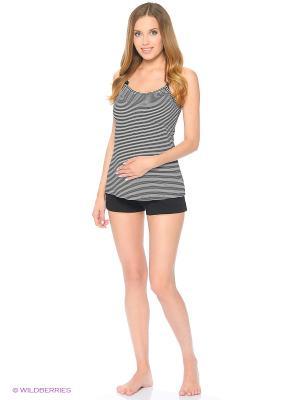 Комплект женский для беременных и кормящих Hunny Mammy. Цвет: черный, белый