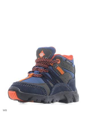 Ботинки EB Kids. Цвет: темно-синий, оранжевый, серый