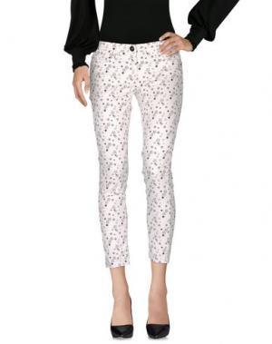 Повседневные брюки ELISABETTA FRANCHI GOLD. Цвет: белый