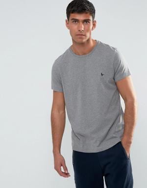 Jack Wills Серая меланжевая футболка. Цвет: серый