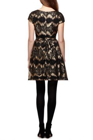 Платье YUMI. Цвет: black, gold