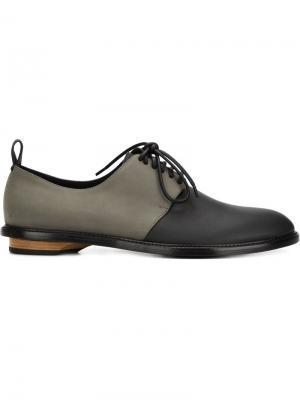 Туфли на шнуровке Charlie Valas. Цвет: серый