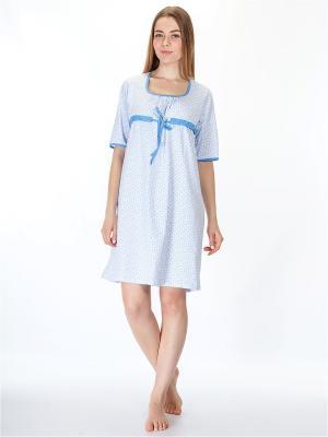 Ночная сорочка HELLO MODA!. Цвет: голубой