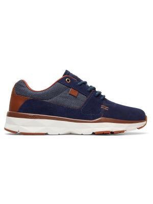 Кроссовки DC Shoes. Цвет: синий, коричневый, серо-голубой