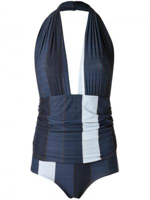 Gathered swimsuit Amir Slama. Цвет: синий