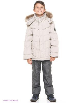Куртка MES AMI. Цвет: светло-бежевый