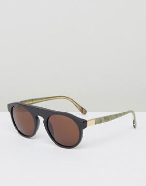 Retrosuperfuture Солнцезащитные очки Racer. Цвет: черный