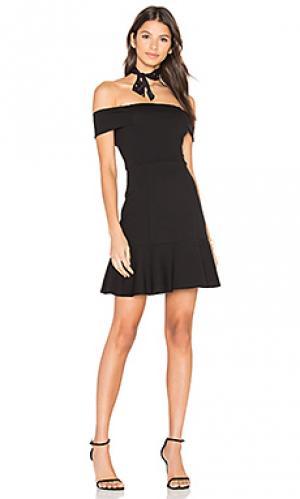 Платье со спущенными плечами Eight Sixty. Цвет: черный