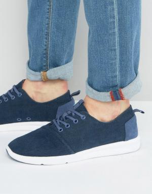 Toms Парусиновые кроссовки Del Rey. Цвет: темно-синий