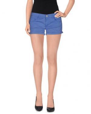 Повседневные шорты CLARK JEANS. Цвет: синий