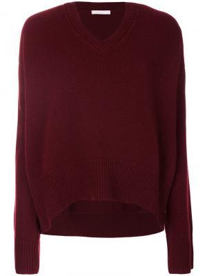 Oversized V-neck jumper Giada Benincasa. Цвет: красный