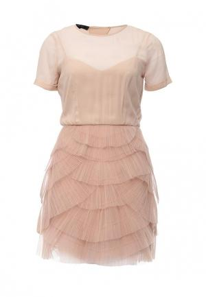 Платье BCBGMAXAZRIA. Цвет: бежевый