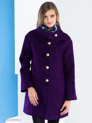 Пальто Say. Цвет: фиолетовый