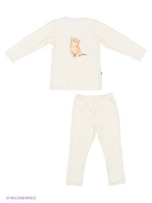 Пижама для девочки Наша Мама. Цвет: молочный