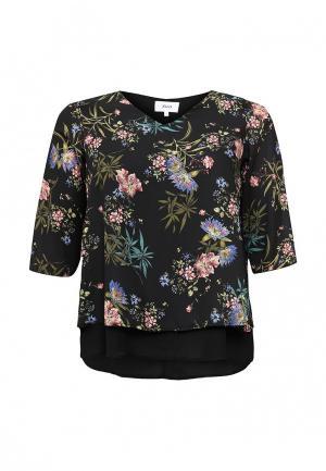 Блуза Zizzi. Цвет: черный