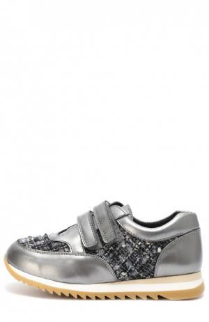 Комбинированные кроссовки на рифленой подошве Clarys. Цвет: серый