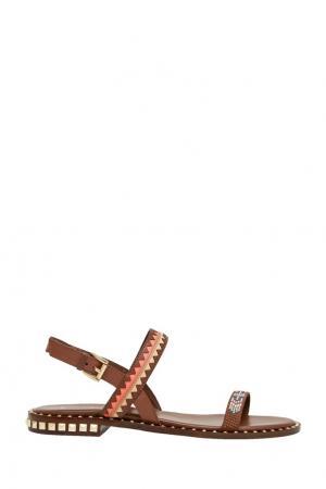 Кожаные сандалии Paco ASH. Цвет: коричневый