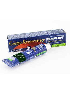 Восстановитель кожи Creme RENOVATRICE, 25 мл. (жидкая кожа)(20 темно-зеленый ) Saphir. Цвет: темно-зеленый