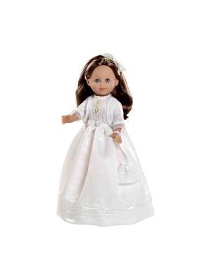 Кукла Arias  в белом платье, брюнетка, 42 см Arias.. Цвет: белый