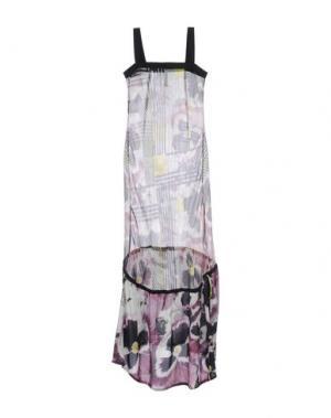 Длинное платье PIANURASTUDIO. Цвет: баклажанный