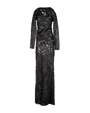 Длинное платье CORTANA. Цвет: черный
