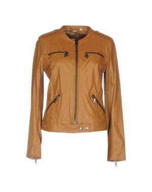 Куртка MANILA GRACE. Цвет: желто-коричневый