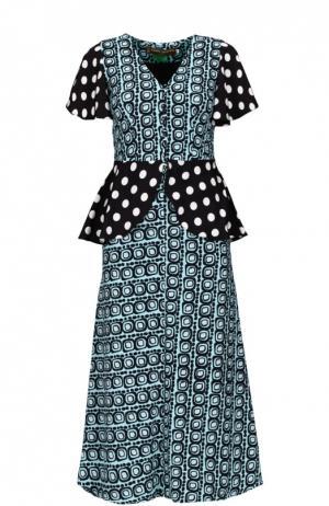 Платье Duro Olowu. Цвет: синий