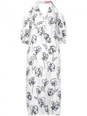 Платье с открытыми плечами Washer Rose Manning Cartell. Цвет: белый