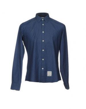 Джинсовая рубашка FRED MELLO. Цвет: темно-синий