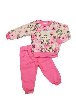 Костюм детский M-BABY. Цвет: бледно-розовый, молочный