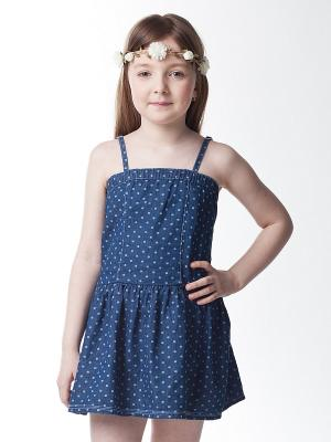 Платье VILATTE. Цвет: темно-синий