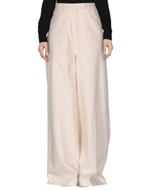 Повседневные брюки VERONIQUE BRANQUINHO. Цвет: слоновая кость