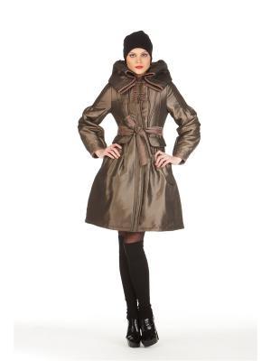 Демисезонное пальто BCVS makelove. Цвет: бронзовый