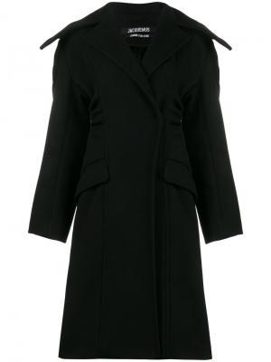 Пальто Le Manteau Elie свободного кроя Jacquemus. Цвет: чёрный