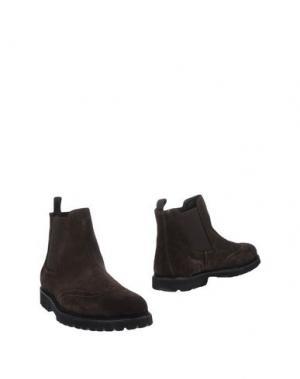 Полусапоги и высокие ботинки BRUNO VERRI. Цвет: темно-коричневый