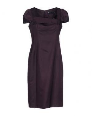 Платье до колена 6267. Цвет: баклажанный