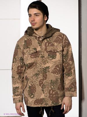 Куртка Afends. Цвет: кремовый, зеленый, бежевый