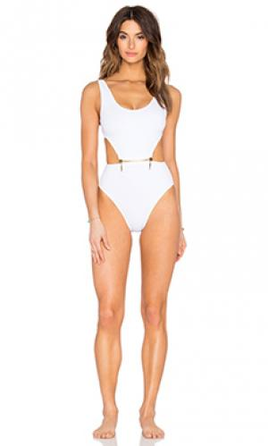 Слитный купальник margot OYE Swimwear. Цвет: белый