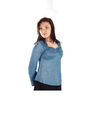 Кофточка ANGY. Цвет: серо-голубой, серебристый