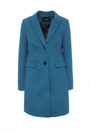 Пальто oodji. Цвет: бирюзовый