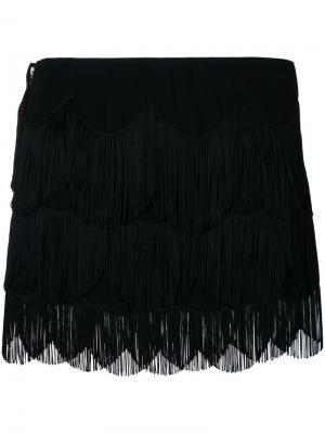 Мини-юбка с бахромой Marc Jacobs. Цвет: чёрный